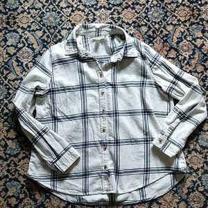 Canyon River Blues XL blue and white flannel shirt